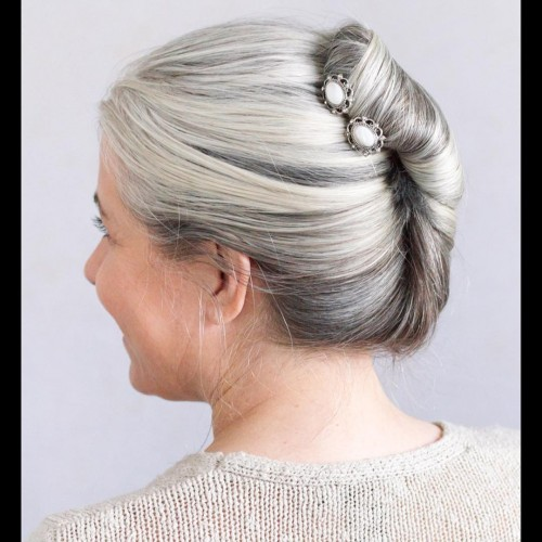 Accessorized Classy French Twist