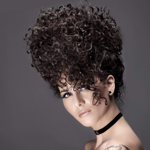 Afro Inspired Curly Updo