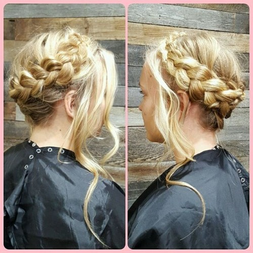 Blonde Braid Crown