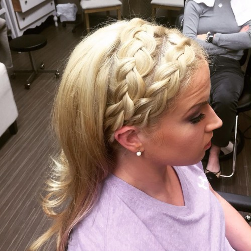 Braided Blonde Headband