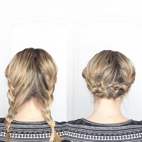 Double Braids for Medium Length
