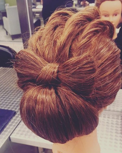 Fancy Chignon Bow