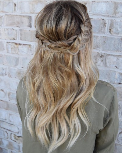 Long Blond Locks and Boho Braids