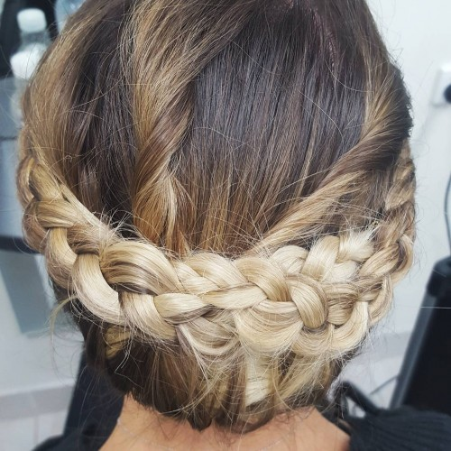 Low and Braided Chignon