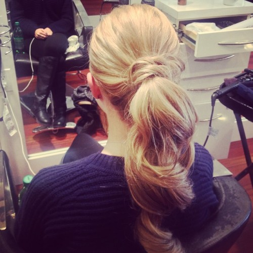 Pretty and Long Blonde Ponytail