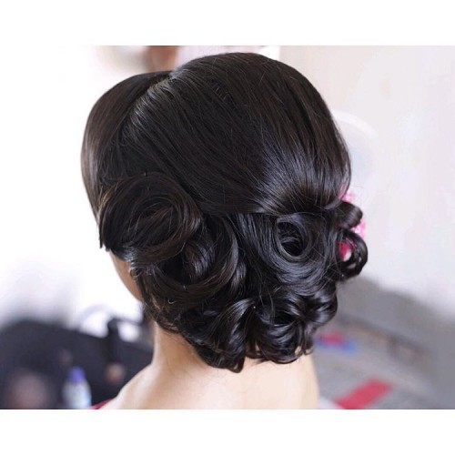 Sleek Formal Short Updo