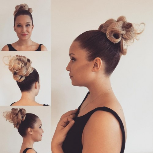 Stylish Top Bun