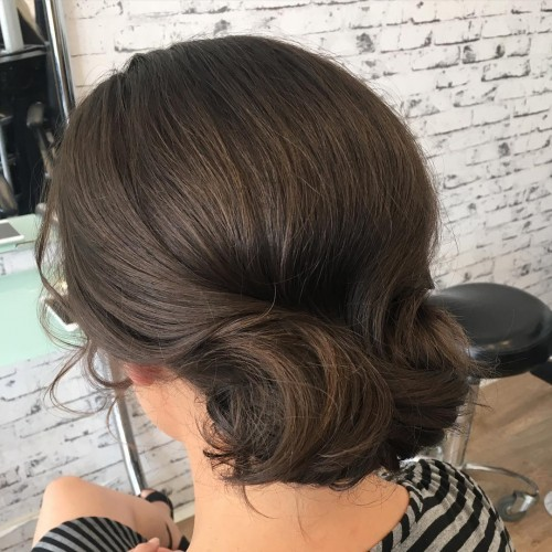 Textured Brunette Chignon