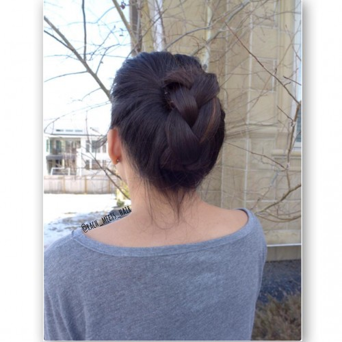 Three Strand Braid Updo