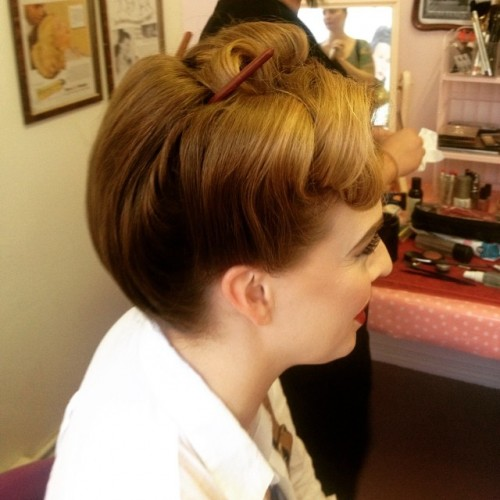 Vintage and Sassy Updo with Chopsticks