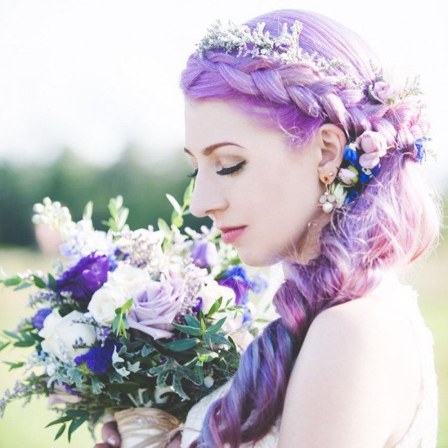 Beautiful Flowers and a Braid