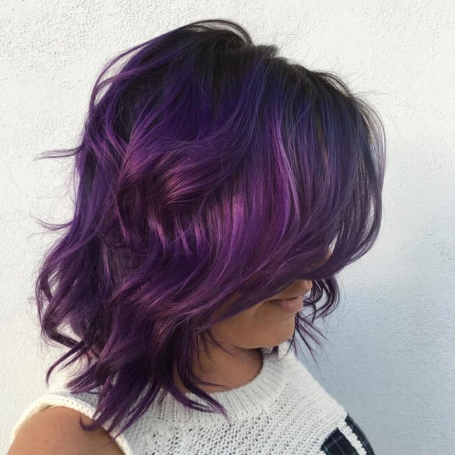 Beautiful Messy and Colored Bob