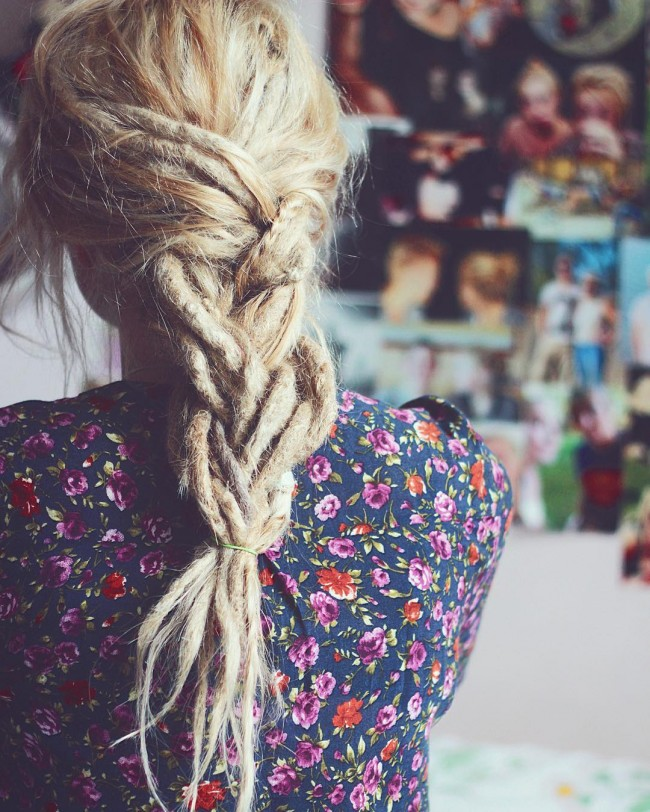 Blonde Braided Dreads