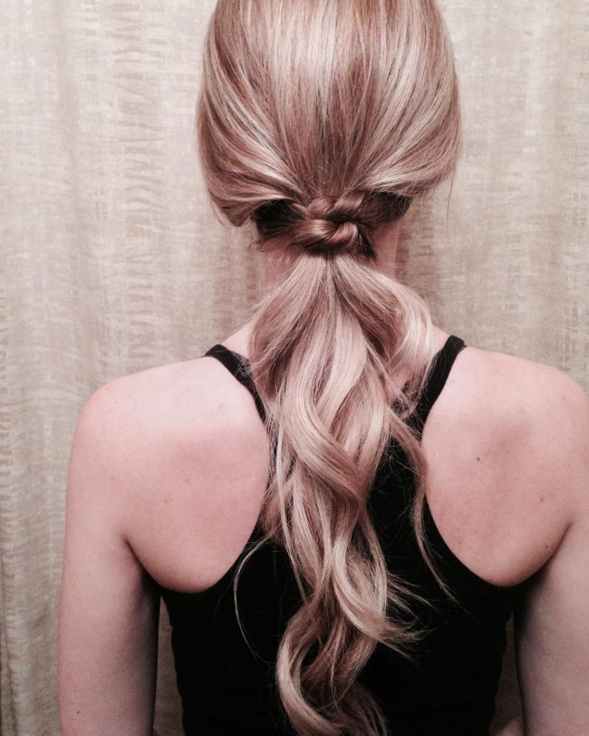 Blonde Diva Ponytail