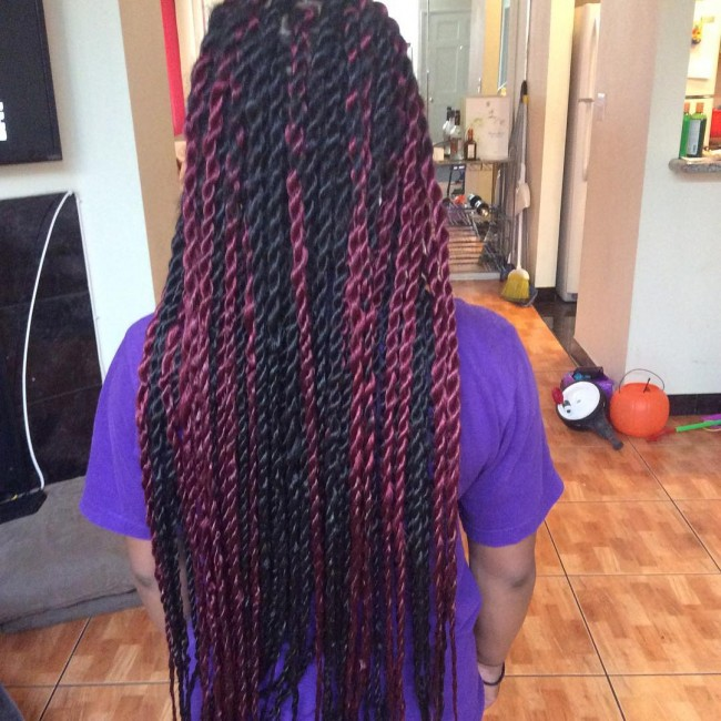Burgundy Marley Twists
