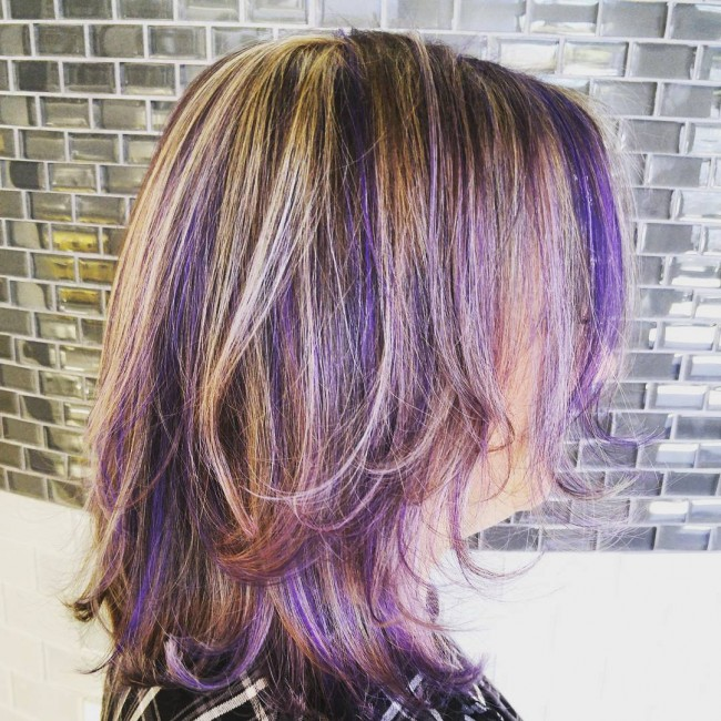 25 best purple highlights ideas on pinterest purple brown hair 55 lustrous purple hair color ideas feel like a queen pmusecretfo Image collections