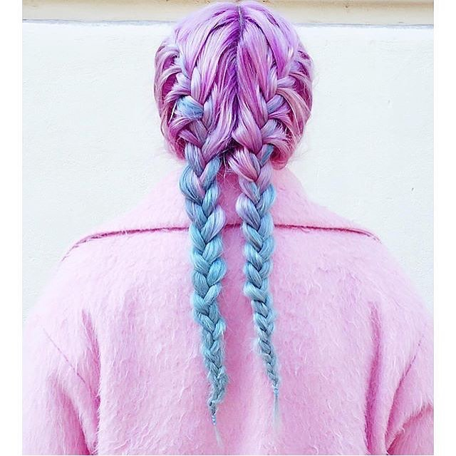 Funky Double French Braids