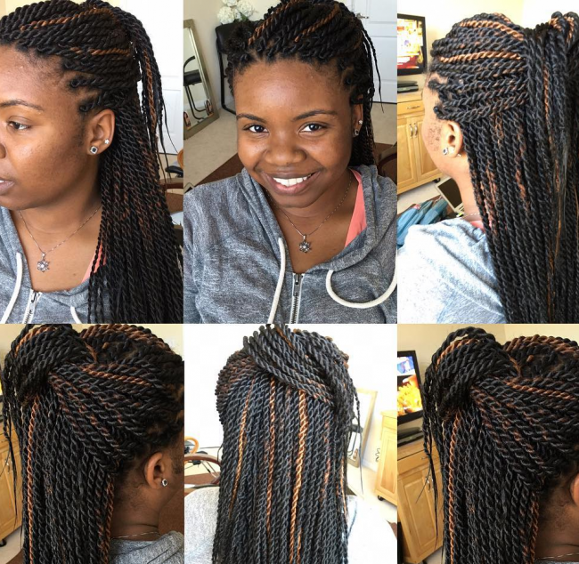 Highlighted Thin Rope Twists