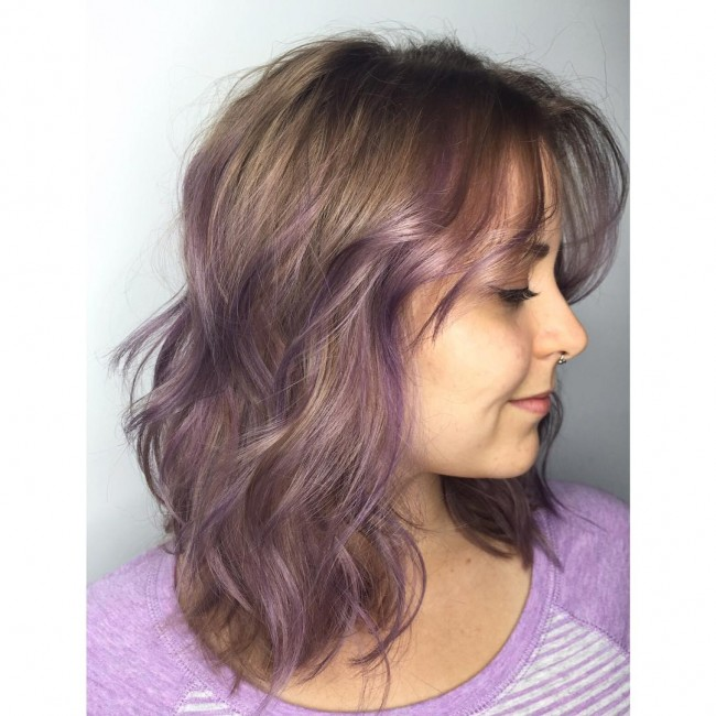 Muted Lilac Waves