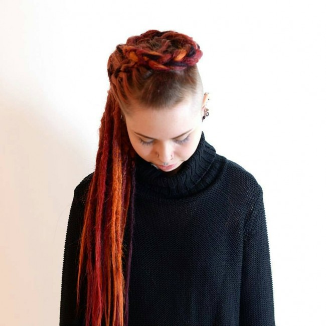 Synthetic Long Flashy Dreads