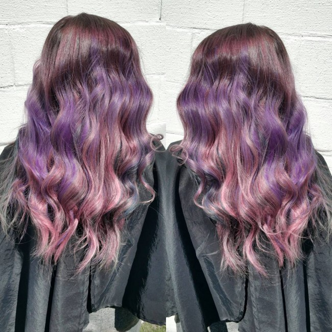 Violet to Pink Ombre
