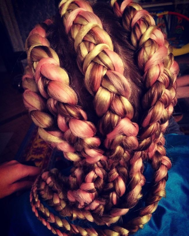 A Blend of Pink and Brown Jumbo Rows