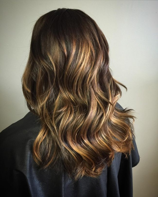 A Touch of Gold in Brunette Locks