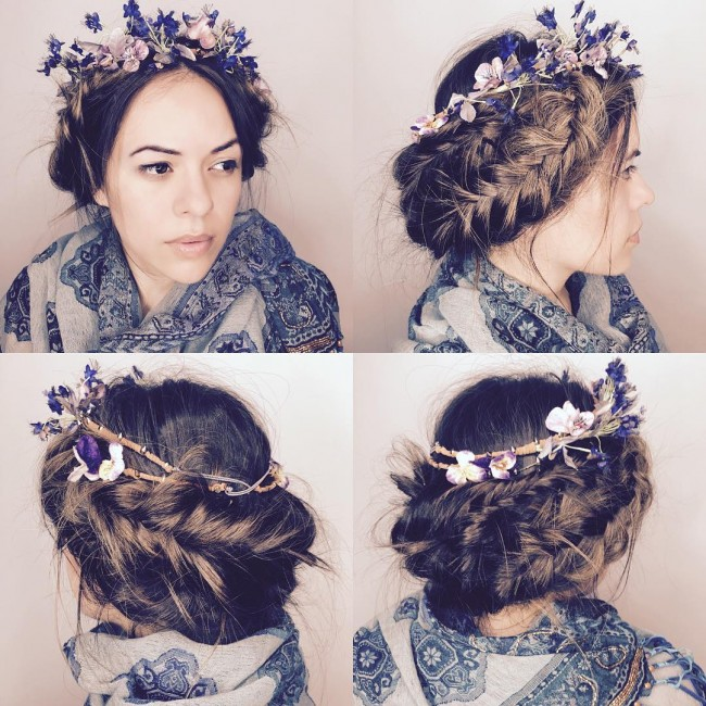 Accessorized Side Braid Glamour