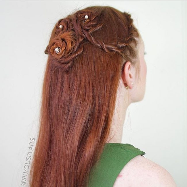 Adorable Braided Ginger Hair