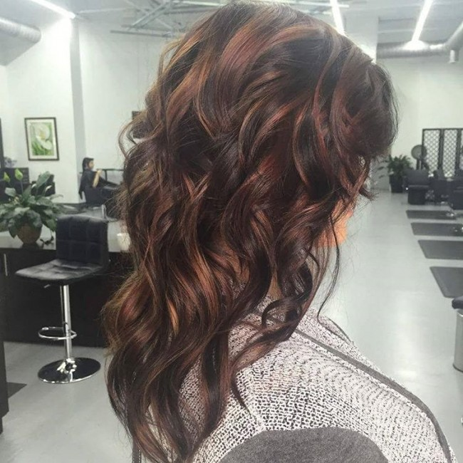 Artistic Textured Curls with Multiple Shades