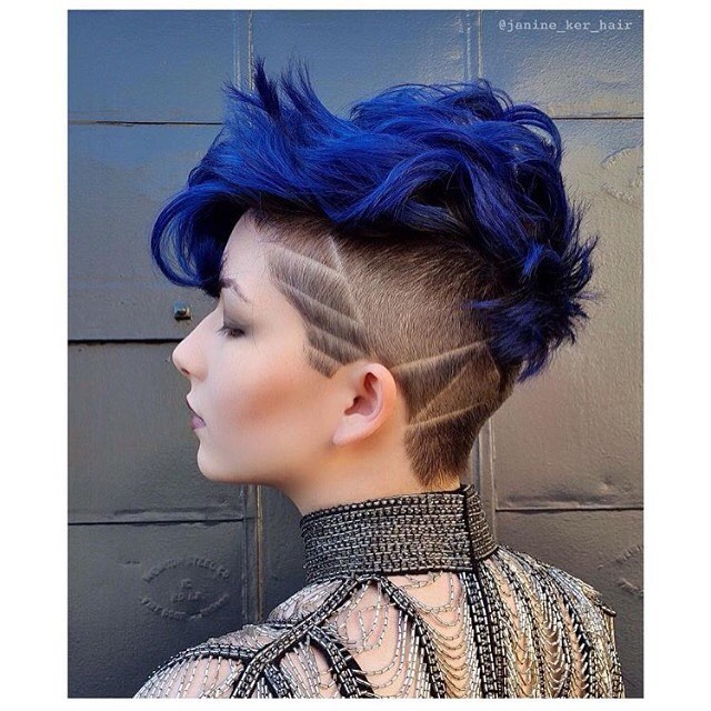 Awesome Blue Pixie Hawk