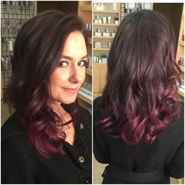 Awesome Plum Ombre