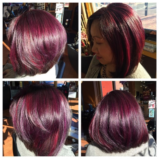Berry Tinted Hair
