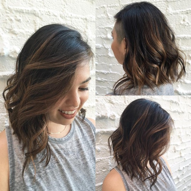 Black to Warm Brunette Transition