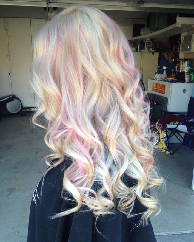 Blonde and Pink Swirls
