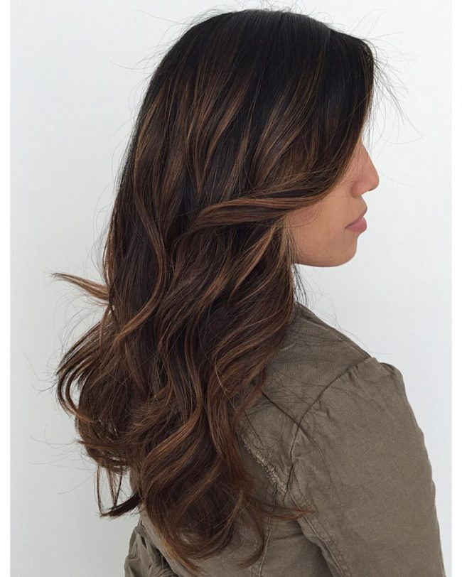 Café Latte on Brunette Tresses