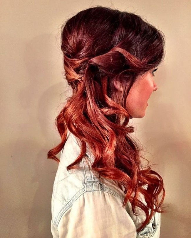 Classic Red to Copper Ombre