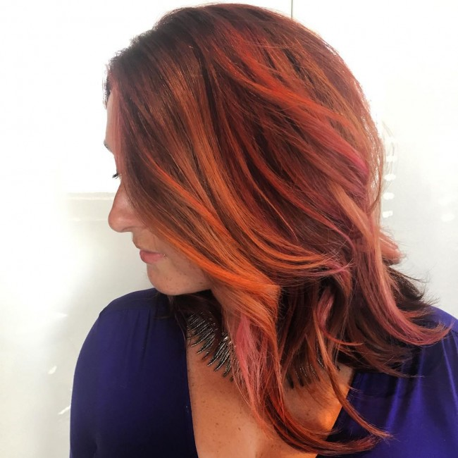 Classic Textured Red Head