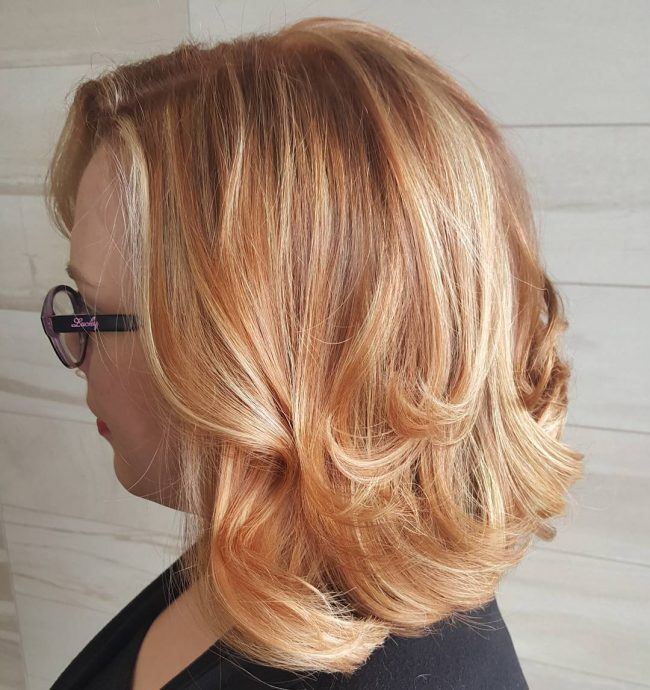 Copper Hue With Golden Ends (Loose Curls)