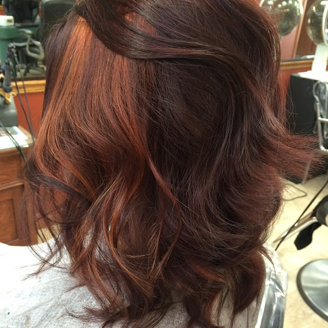 Copper Panels on Loose Curls