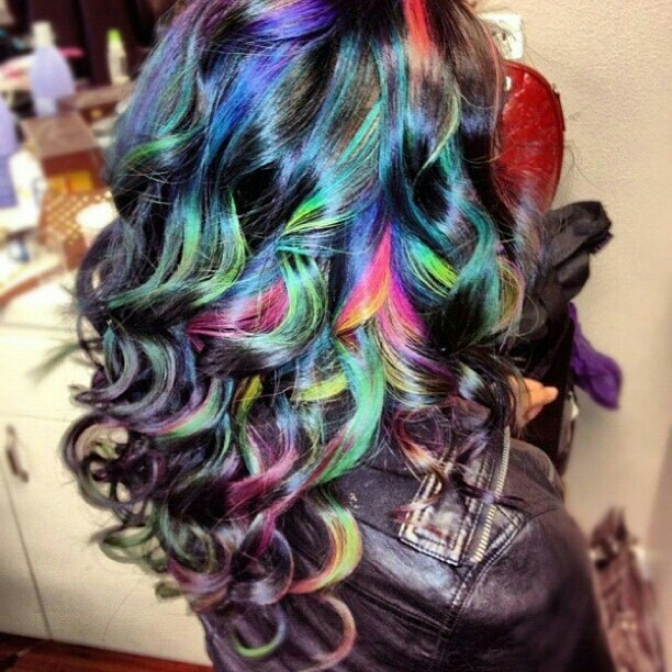 Curly Multicolored Locks