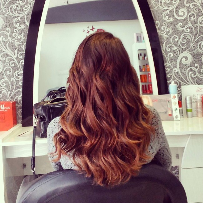 Curly Red Brown Locks