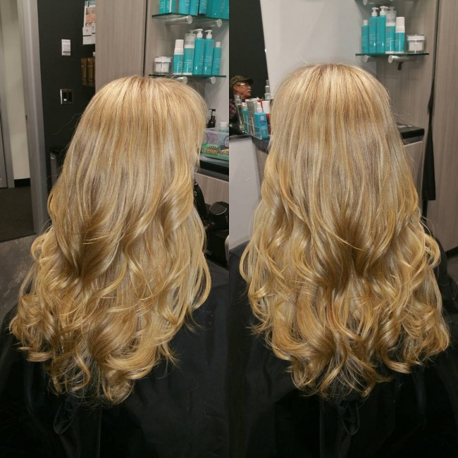 Curly Toned Blonde