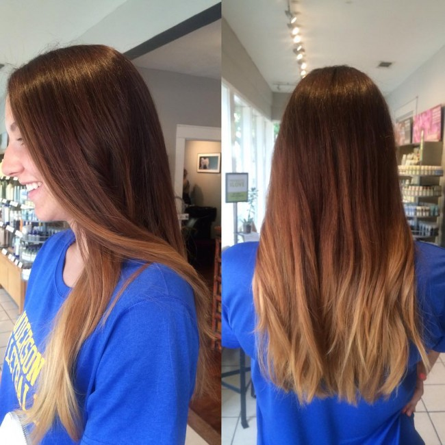 Cute Brown to Blonde OmbreCute Brown to Blonde Ombre
