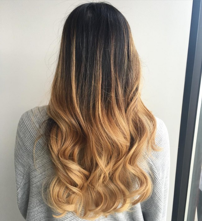 Dark Tone Middle Caramel Ombre