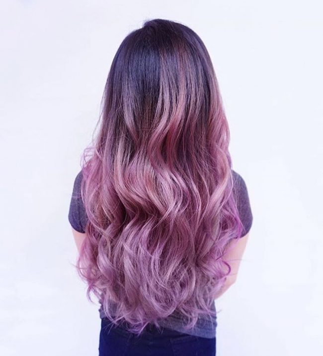 Delightful Purple Pink Ombre