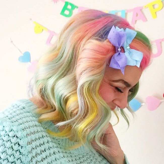 Fashionable Rainbow Fade