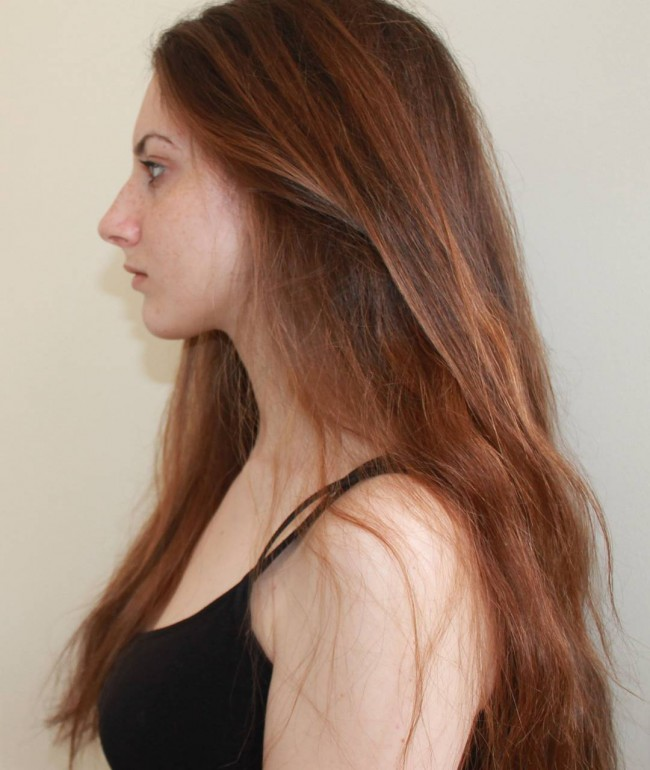 Fine Reddish Brown Strands