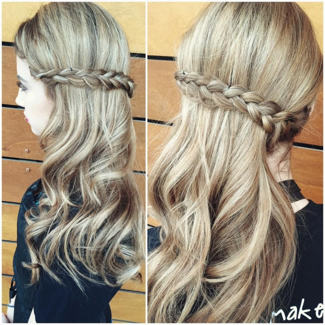 Flashy Middle Braid