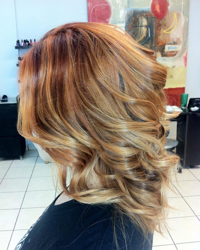 Ginger Blonde with Copper Streaks